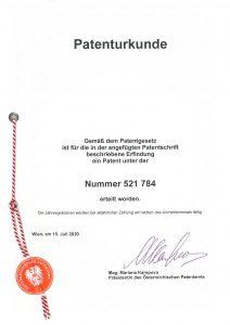 Patenturkunde Steinofix